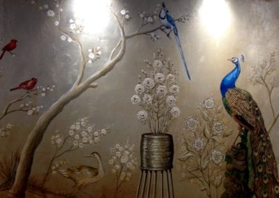 Silver Leaf Artwork London – Chinoiserie