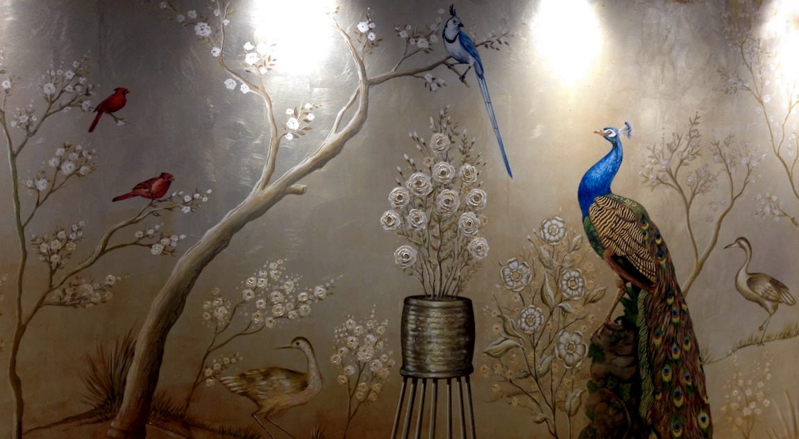 Wonderful Silver Leaf Artwork London – Chinoiserie | Kensington Gilders NB63