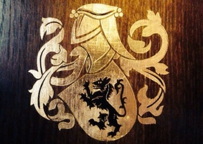 Gold Leaf Decorative Heraldry – Gosterwood Manor – Surrey