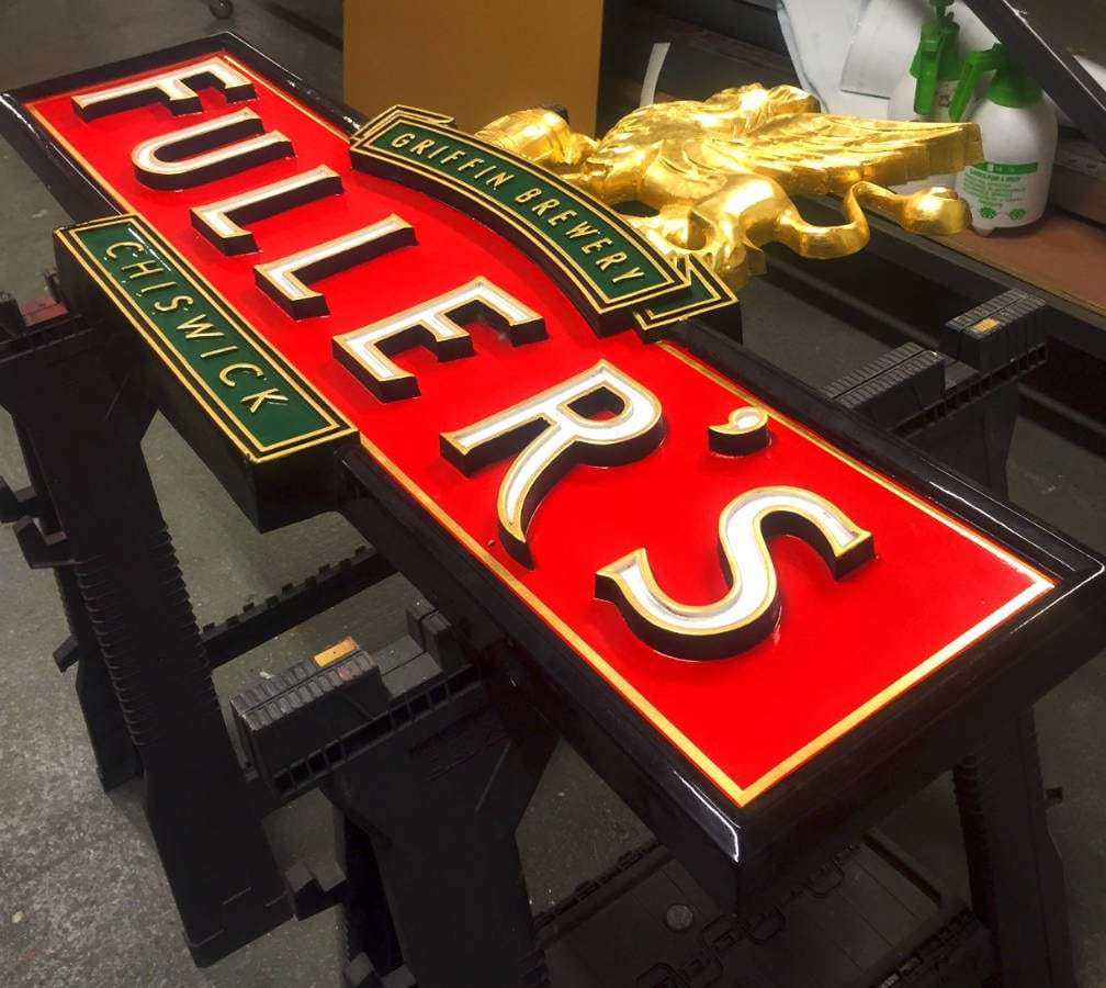 Gold Leaf Sign Chiswick London